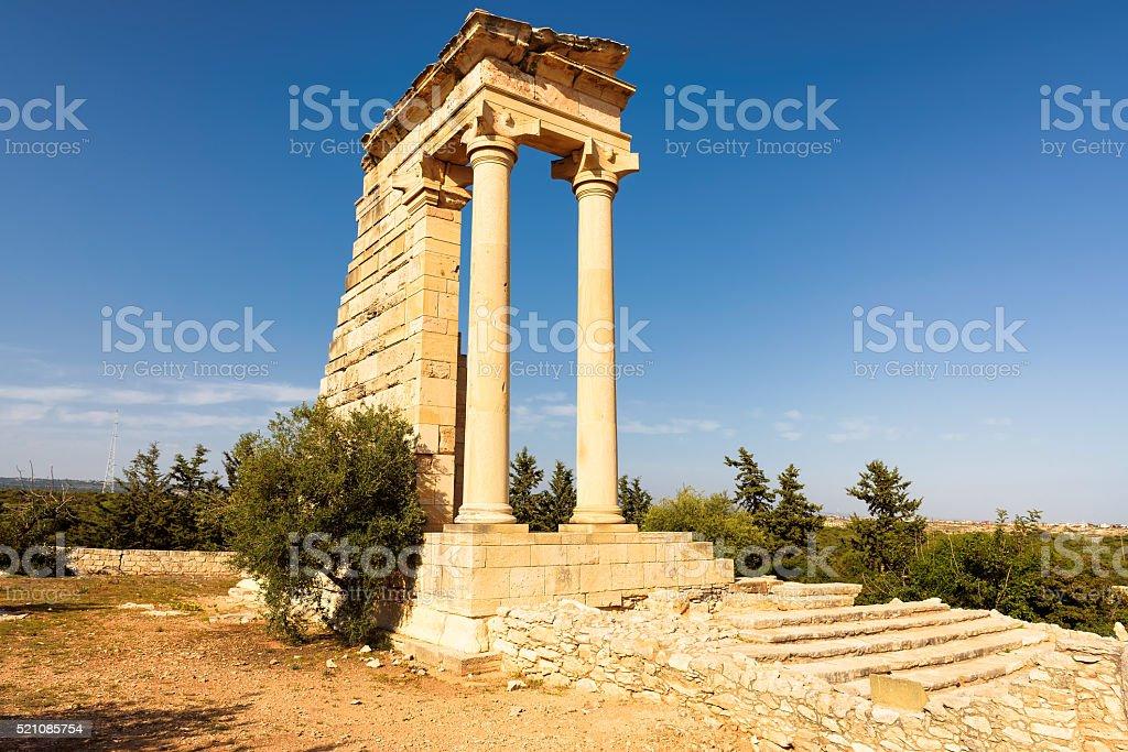 Temple of Apollo Hylates at Kourion, Limassol, Cyprus stock photo