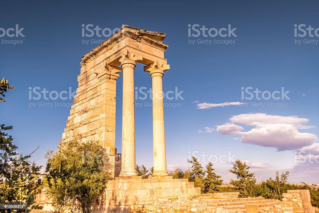 Temple of Apollo Hylates, Limassol District, Cyprus stock photo