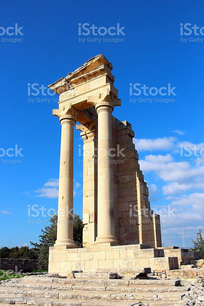 Temple of Apollo near Limassol, Cyprus stock photo