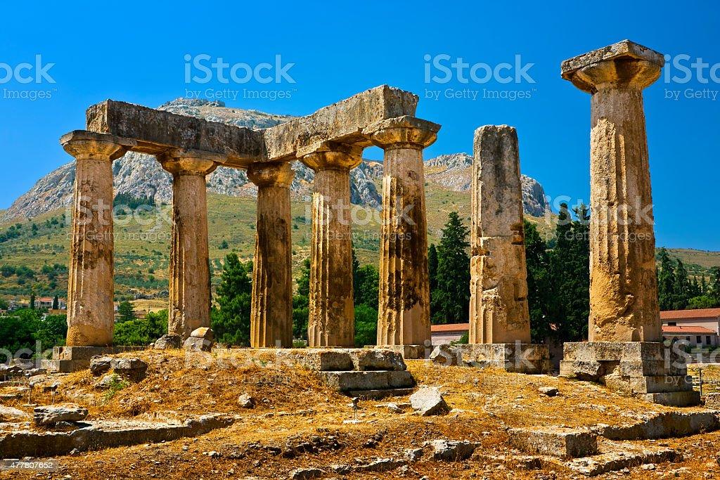 Temple of Apollo stock photo