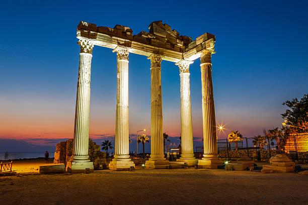 Temple of Apollo. stock photo