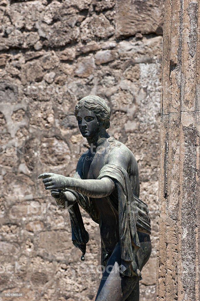 Temple of Apollo - Pompeii royalty-free stock photo