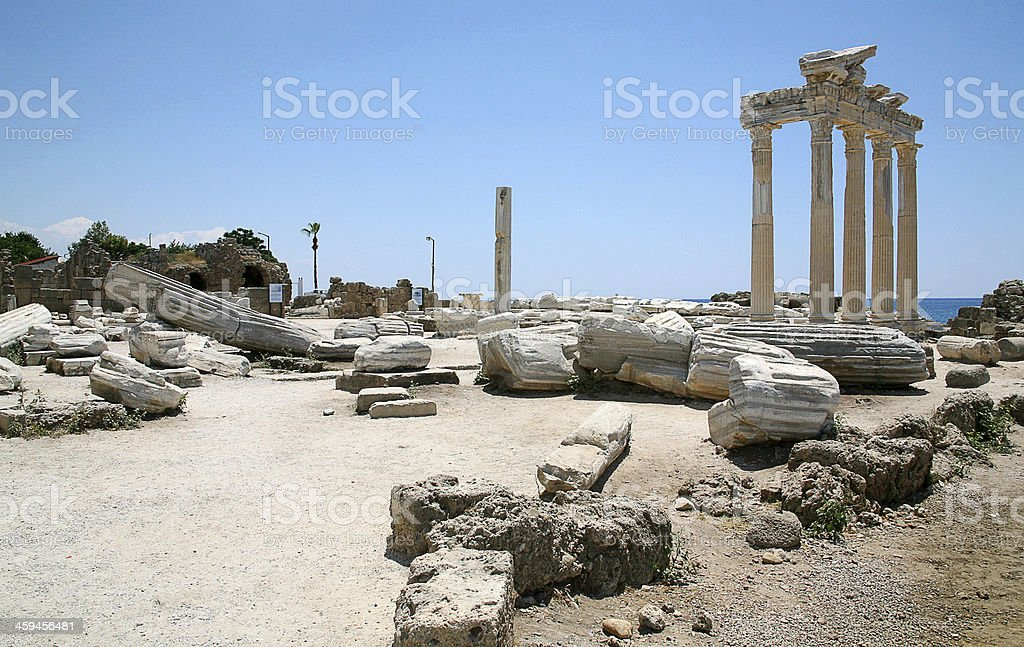 Temple of Apollo ruins royalty-free stock photo