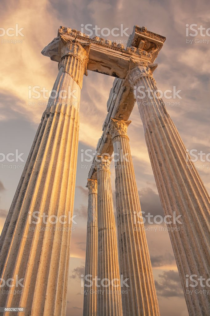 temple of apollo , side, Turkey stock photo