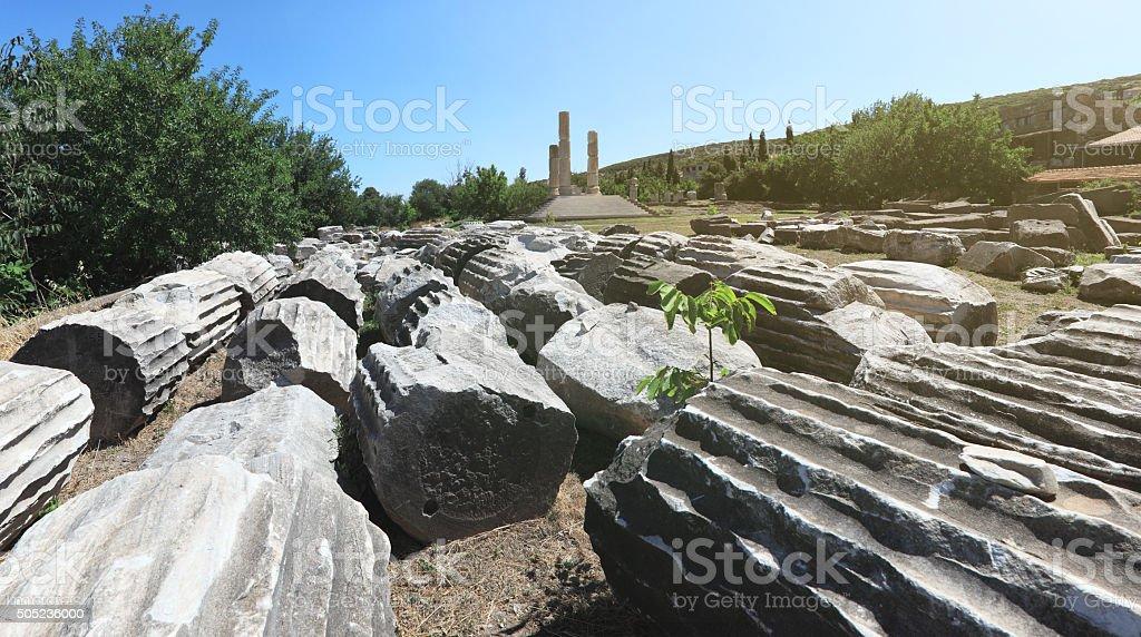 Temple of Apollon Smintheus, Canakkale, Turkey stock photo