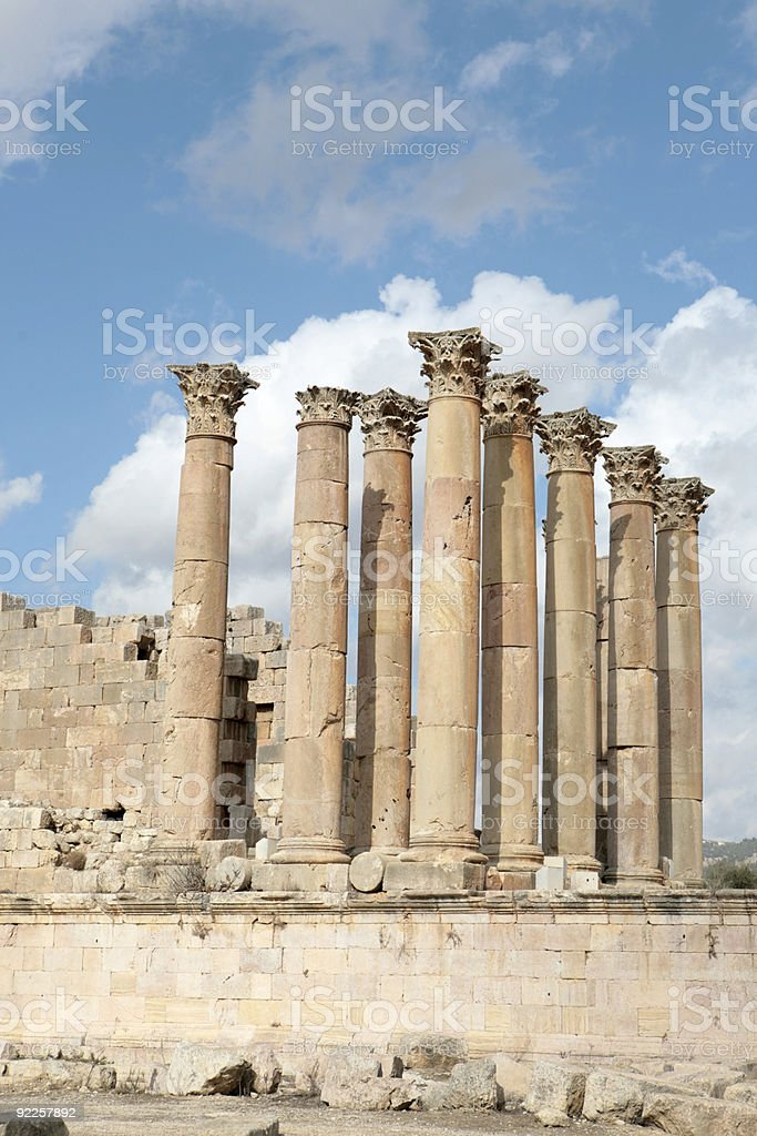 Temple of Artemis (Jordan) royalty-free stock photo