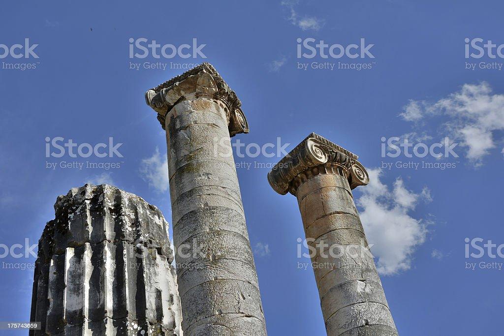 Temple of Artemis, Sardis royalty-free stock photo