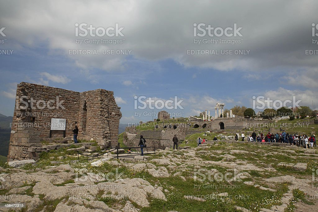 temple of asklepion Pergamon royalty-free stock photo