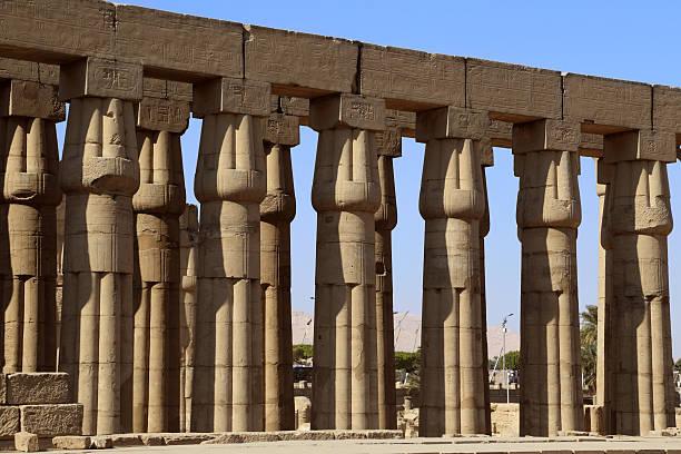 Temple of Aswan, Egypt stock photo