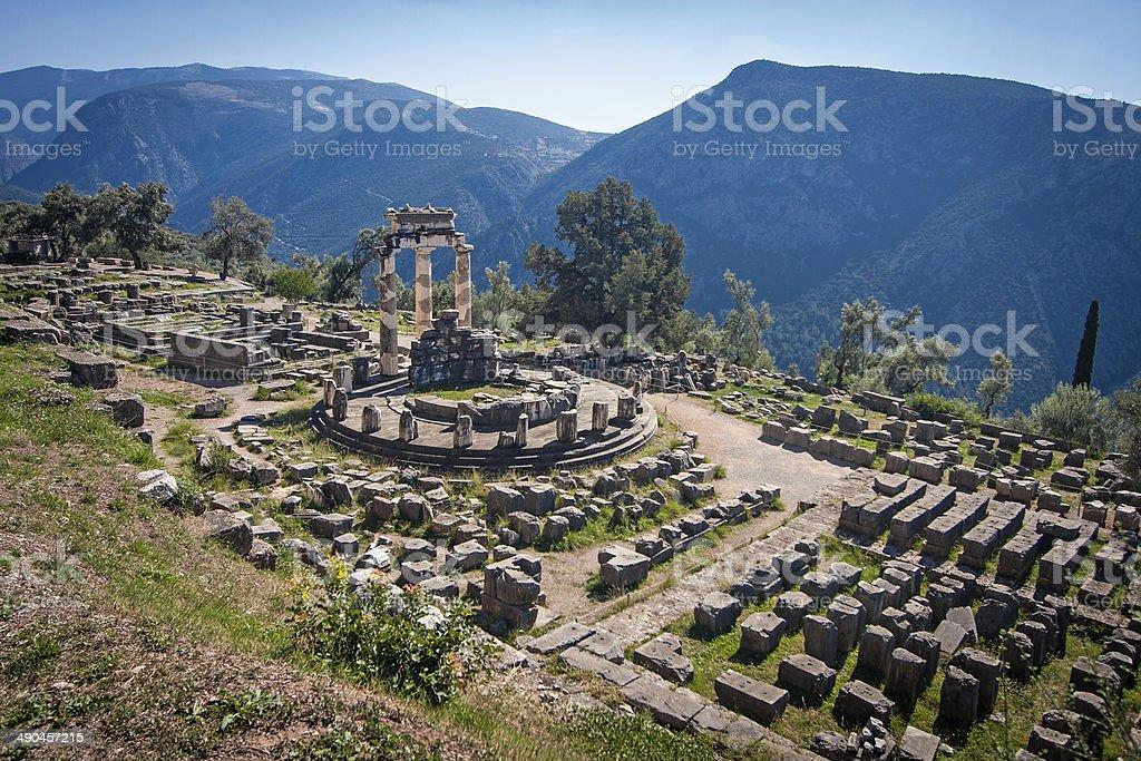 Temple of Athena, Delphi stock photo