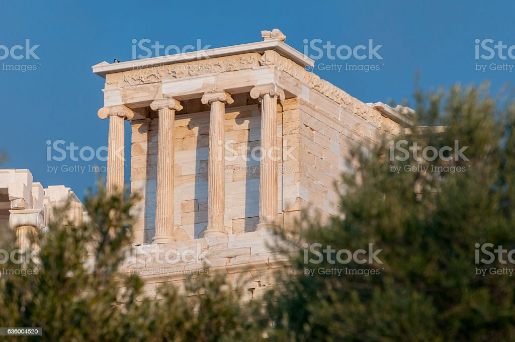 temple of athena nike stock photo