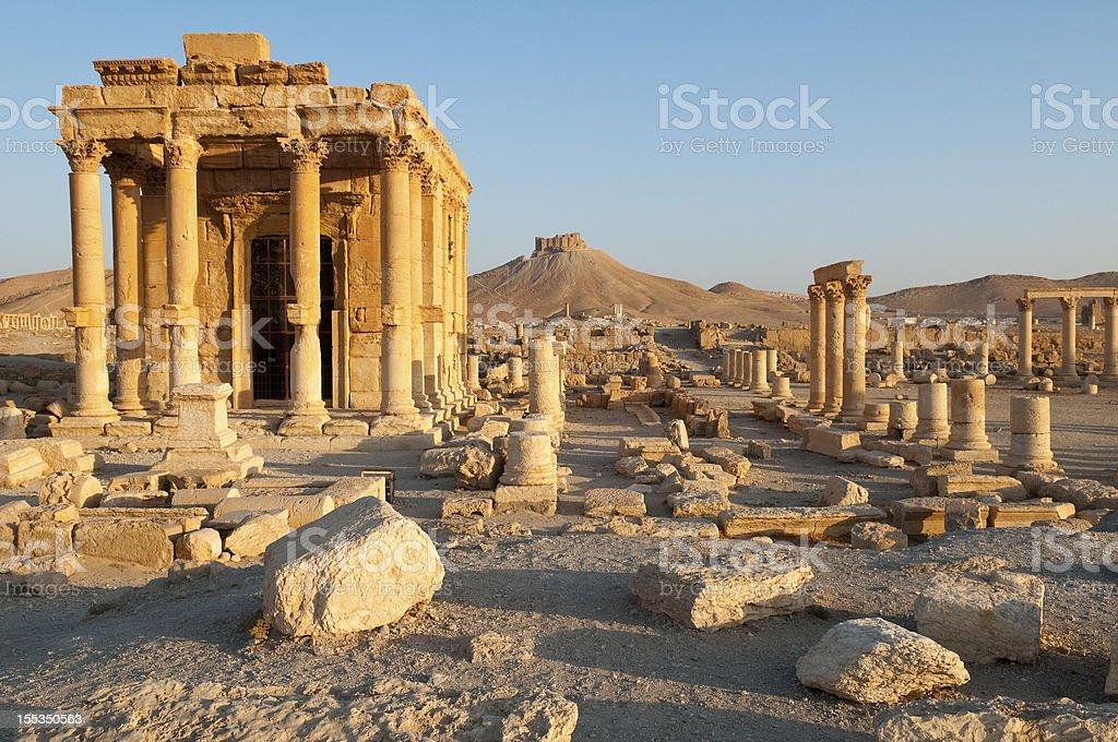 Temple of Baal Shamin in Palmyra, Syria stock photo