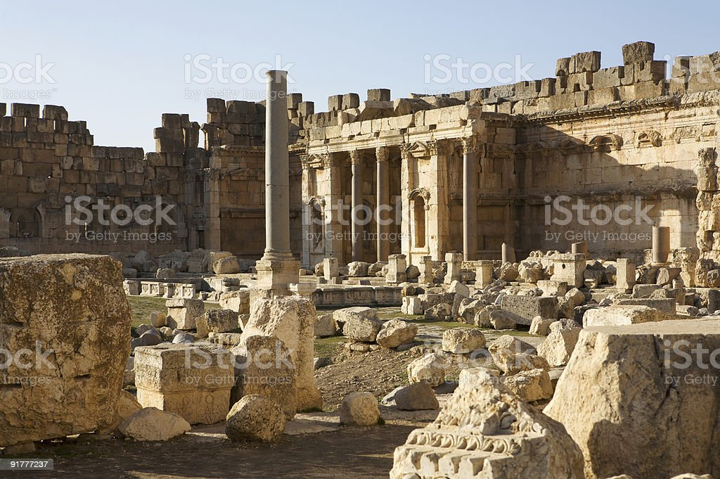 Temple of Bacchus stock photo