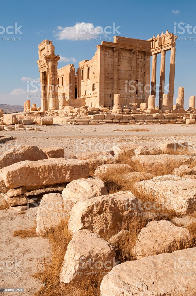 Temple of Bel in Palmyra, Syria stock photo