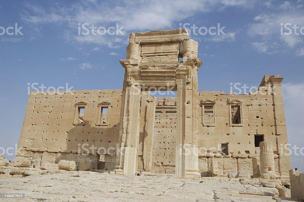 Temple of Bel - Palmyra royalty-free stock photo