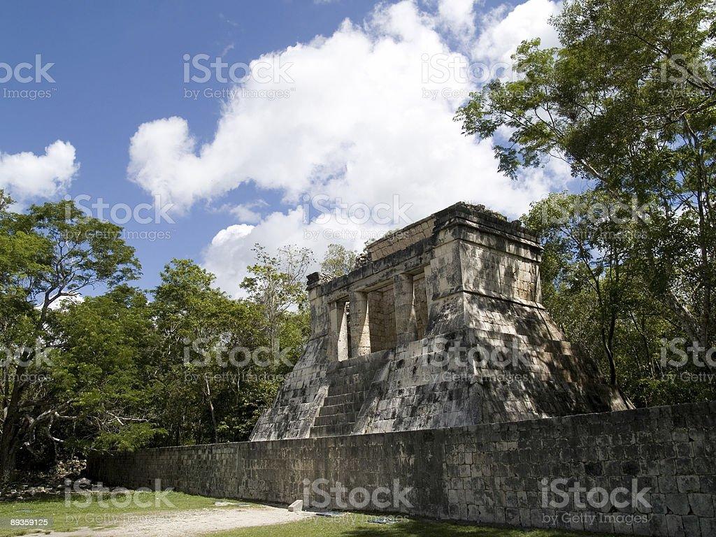 temple of chichen itza w Meksyku zbiór zdjęć royalty-free