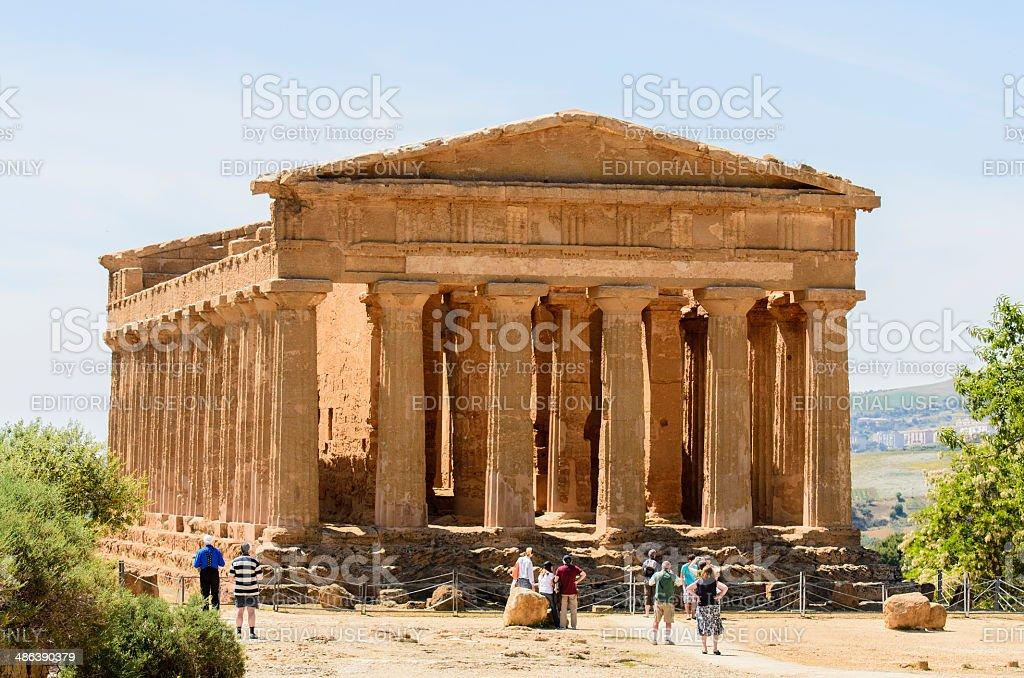 Temple of Concordia, Agrigento royalty-free stock photo