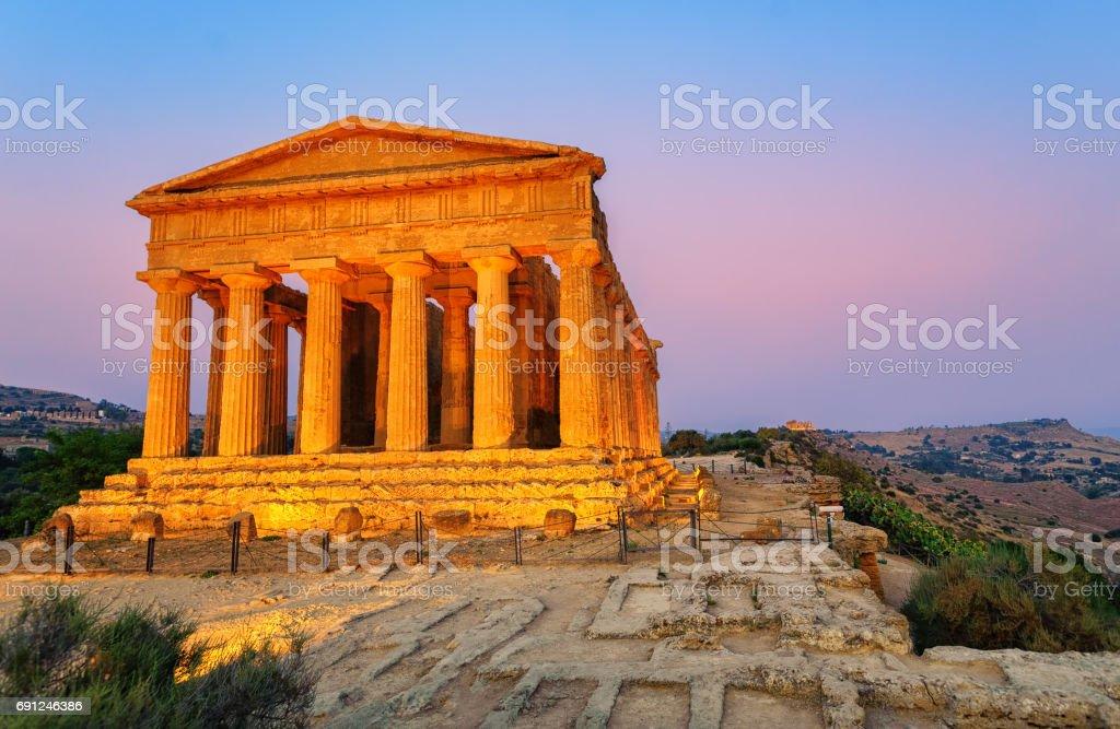 Temple of Concordia, Agrigento, Sicily, Italy - foto stock