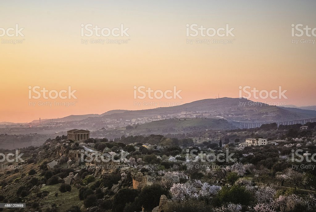 Temple of Concordia in Sicily royalty-free stock photo