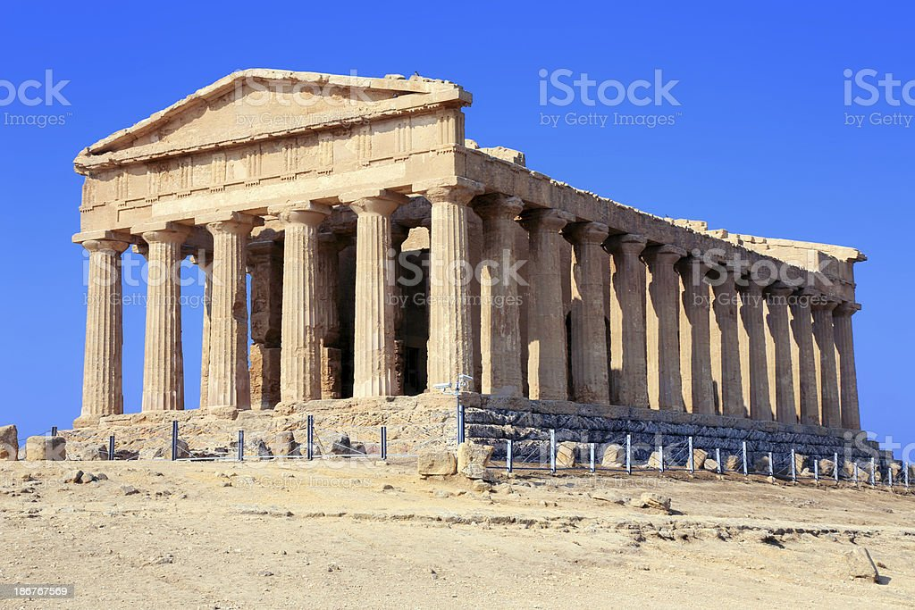 Temple of Concordia royalty-free stock photo