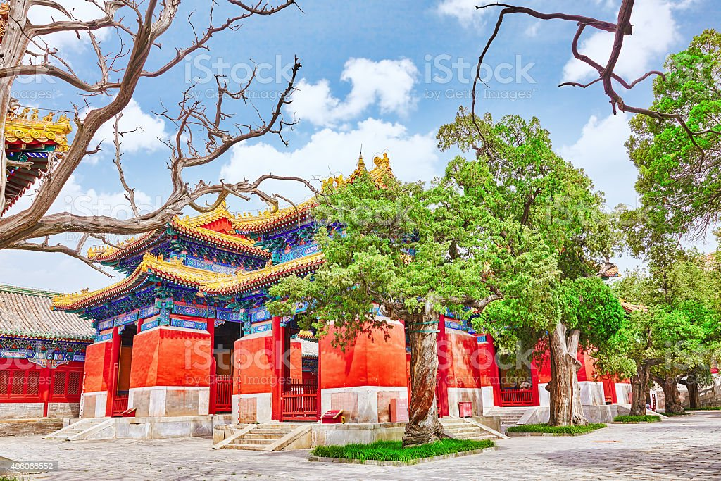 Temple of Confucius at Beijing. stock photo