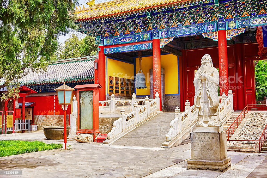 Temple of Confucius at Beijing stock photo