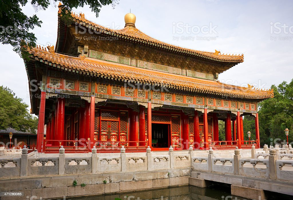 Temple of Confucius in Beijing, China royalty-free stock photo
