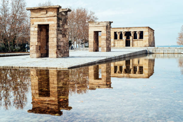 Temple Of Debod Against Sky in Madrid stock photo
