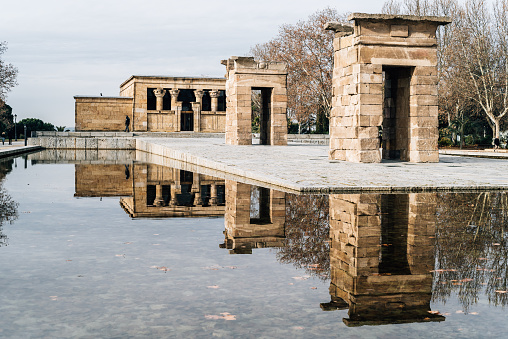 Temple Of Debod Against Sky Stock Photo - Download Image Now