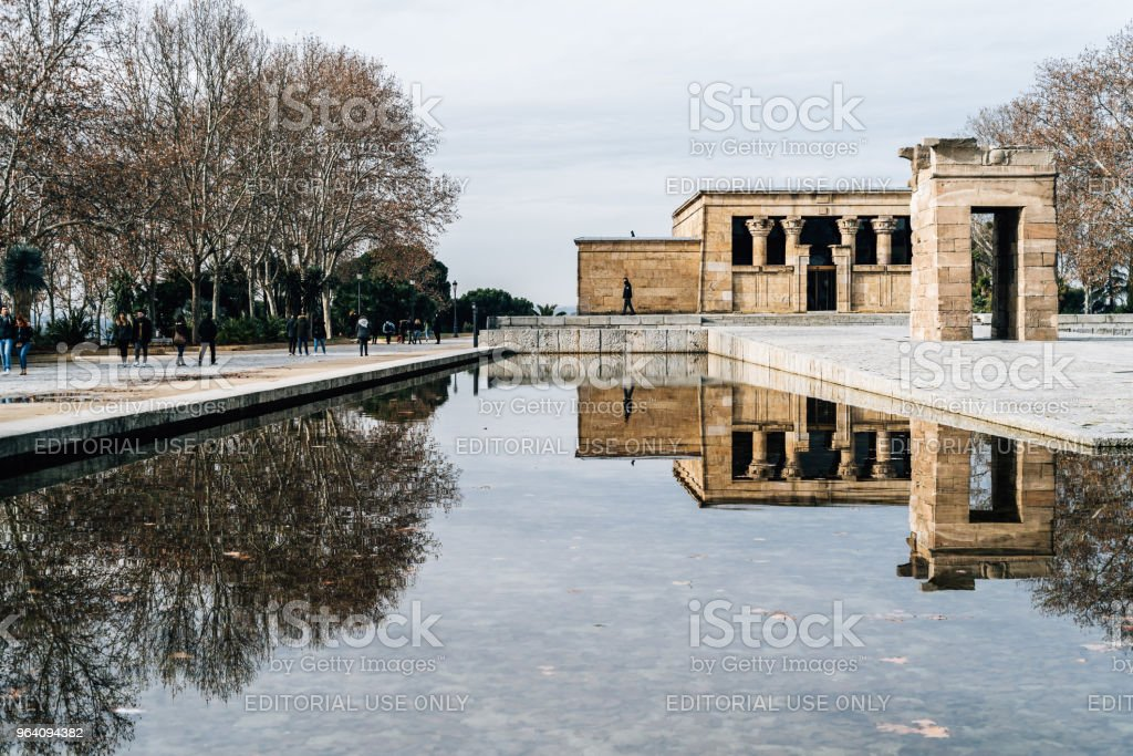 Temple Of Debod Against Sky - Royalty-free Ancient Stock Photo