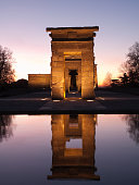 The ancient Egyptian Temple of Debod in Madrid, Spain.