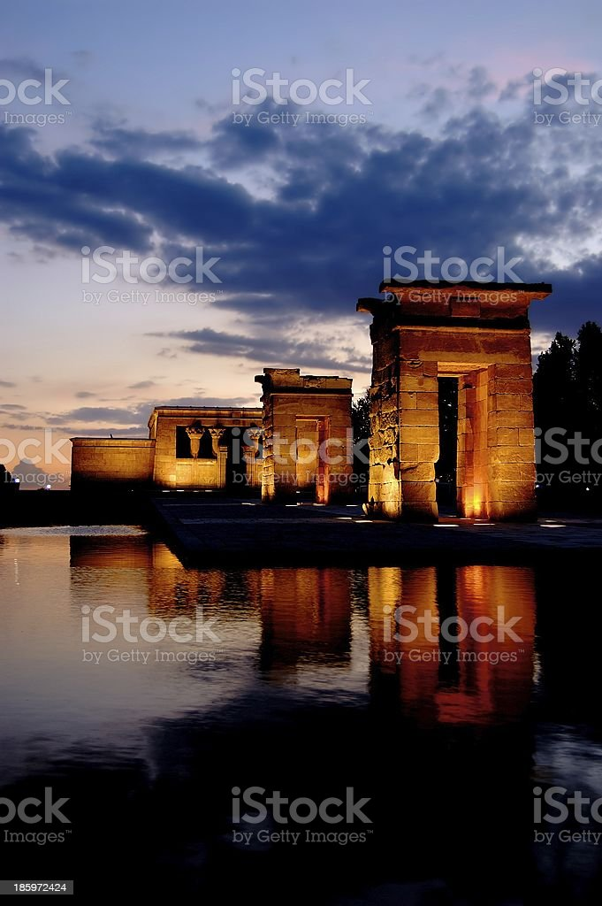Temple of Debod in Madrid. royalty-free stock photo