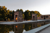 Madrid, Spain; August 23 2017: Temple of Debod without people