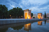 The Temple of Debod is an ancient Egyptian temple that was dismantled and reassembled in the Spanish capital Madrid where it can be seen today.