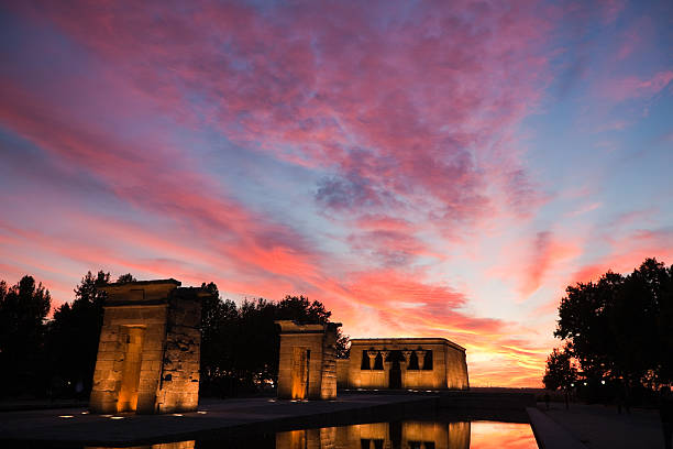 Temple Of Debod, Madrid stock photo
