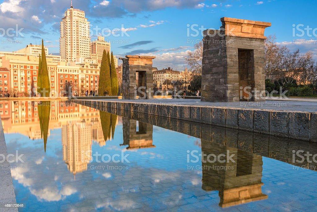 Temple of Debod, Madrid (Spain) stock photo