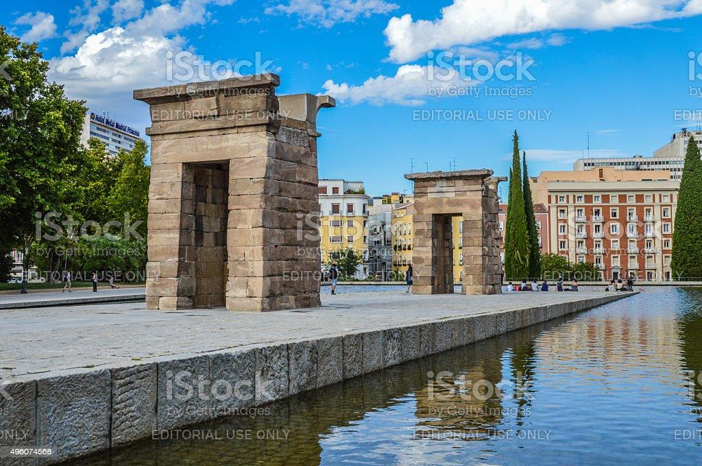 Temple of Debod - Madrid, Spain stock photo