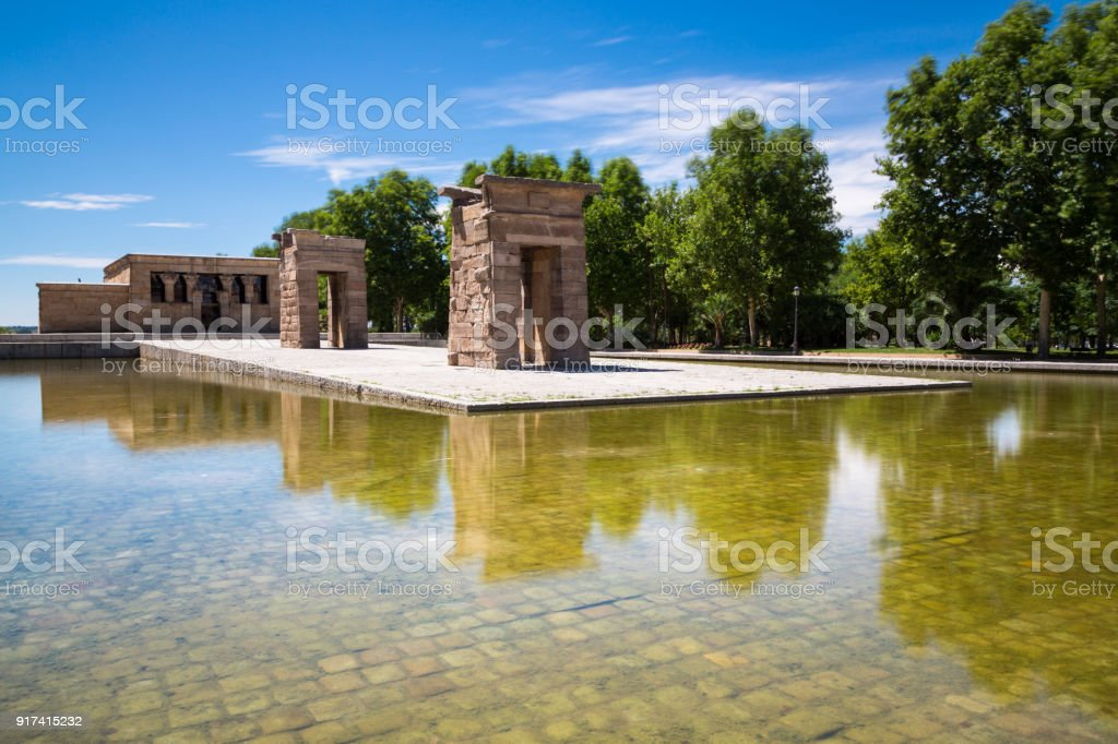 Temple of Debod, Madrid, Spain - UNESCO - foto stock