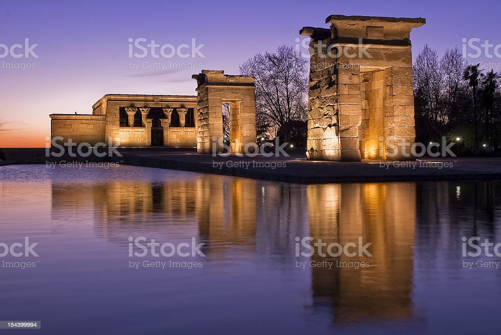 Temple of Debod stock photo