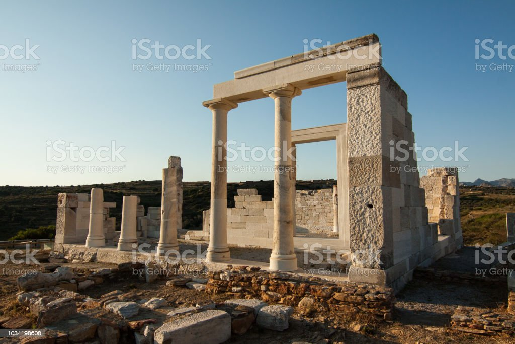 Temple of Demetra stock photo