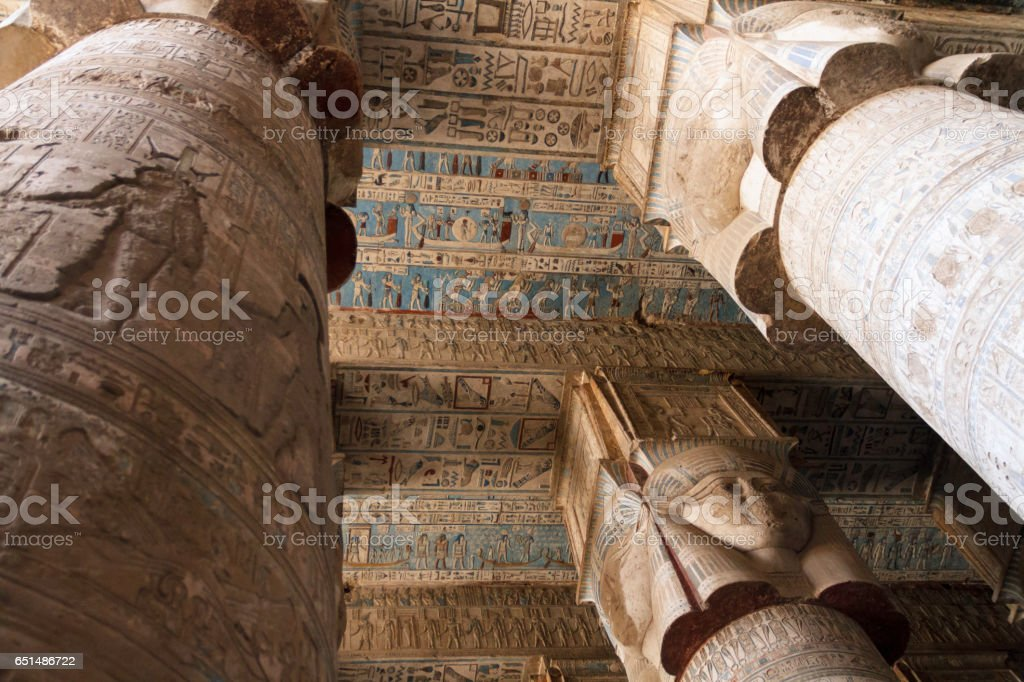 Temple of Dendera stock photo