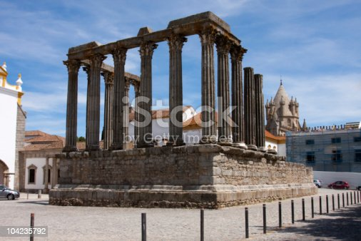 istock Temple of Diana, Evora, Portugal 104235792