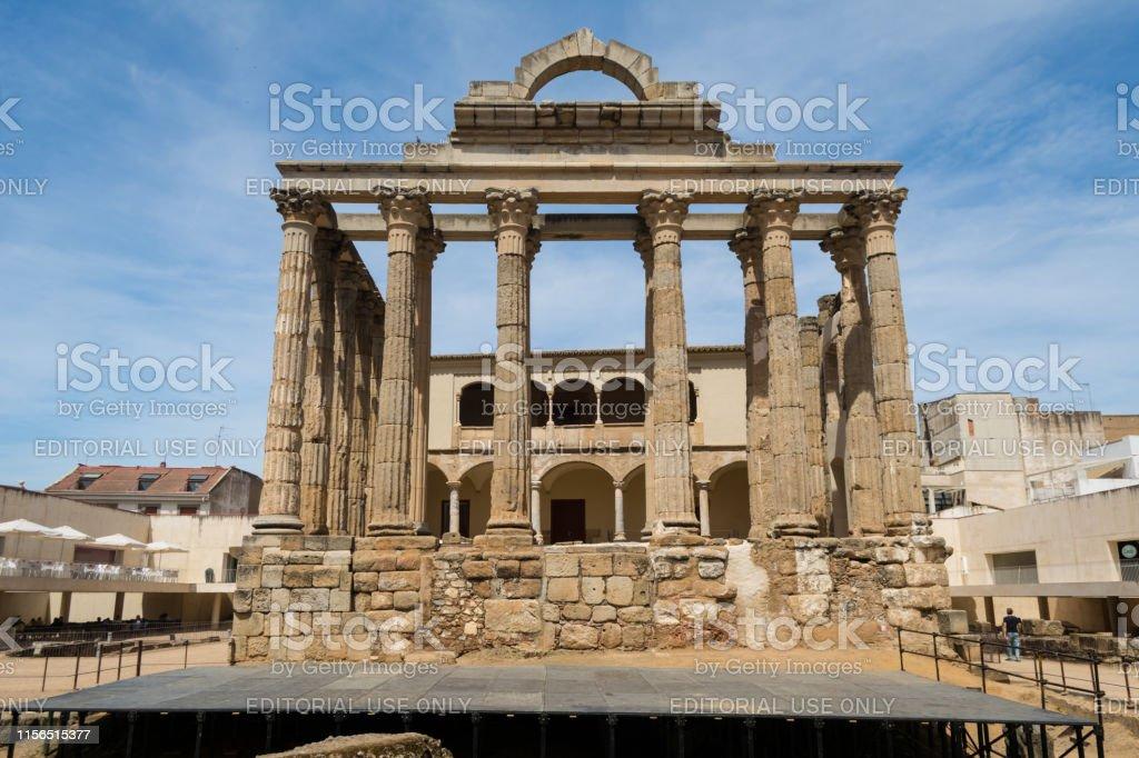 Templo De Diana Merida Extremadura Ruinas Romanas Foto De Stock Y