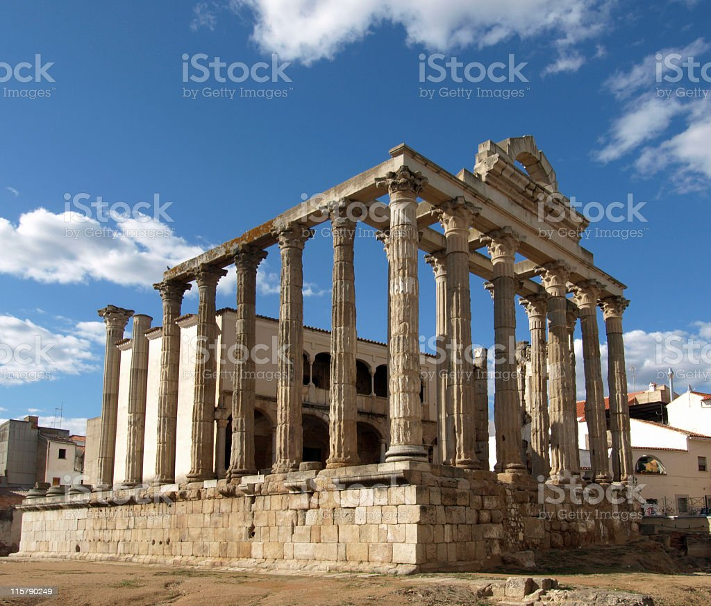Temple of Diana, Merida royalty-free stock photo