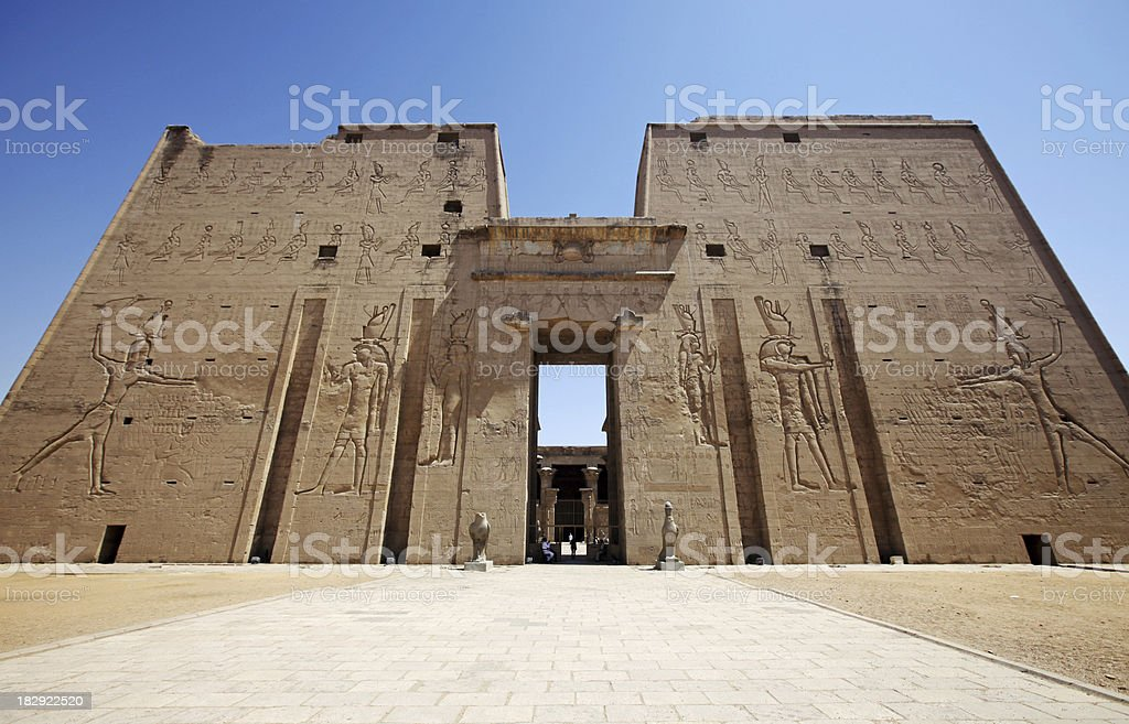 Temple of Edfu Pylon Gate stock photo