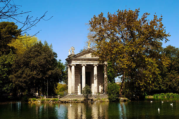 Temple of Esculapio, Rome stock photo