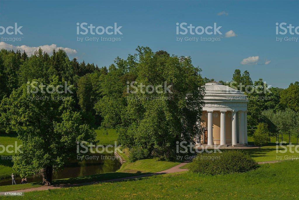 Temple of Friendship. Pavlovsk stock photo