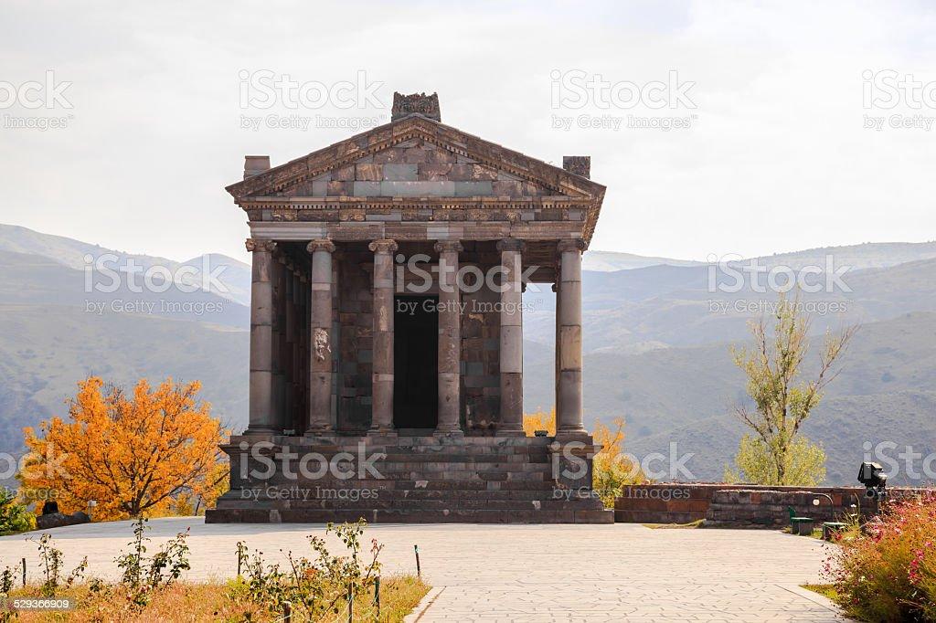 Temple of Garni, Armenia stock photo