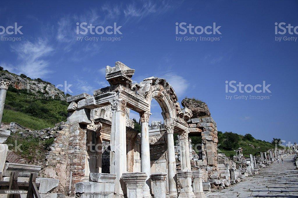 Temple of Hadrian - Ephesus royalty-free stock photo
