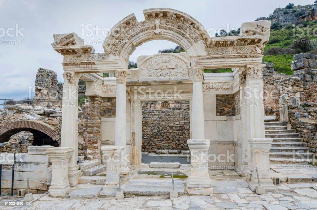 Temple of Hadrian - Ephesus stock photo